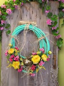 garden hose wreath chester s flower shop