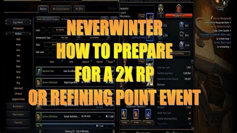 neverwinter tips prepare rp event ps