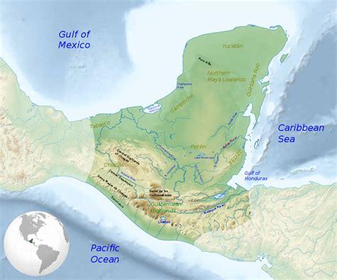 geography of guatemala wikipedia file maya civilization location map geography svg