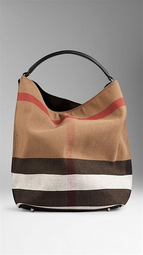 Burberry Check Canvas Hobo Bag Bliss by Medium Canvas Check Hobo Bag Black Burberry