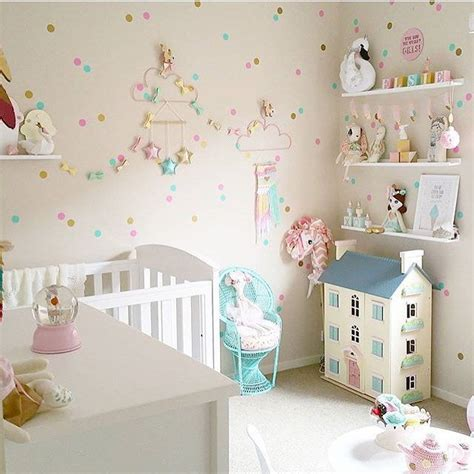 kids room cute pink dotty wallpaper girls bedroom home design the dotty wall fills the room baby room pinterest
