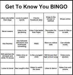 get to you bingo card template get to you bingo pinteres