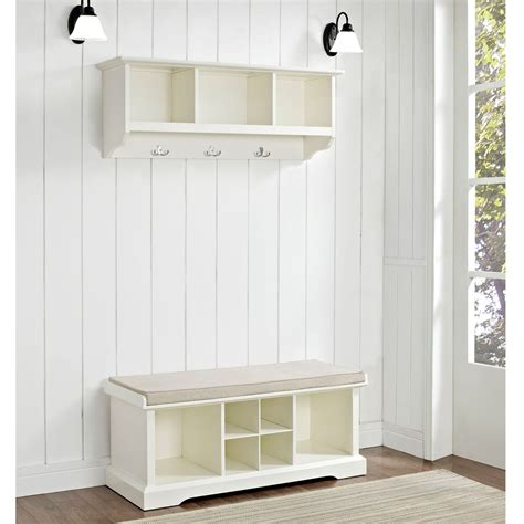 entryway bench white decor white wood entryway storage bench with floating