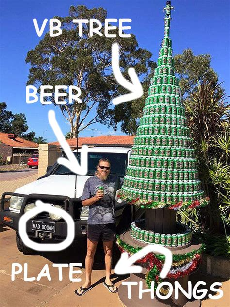 this dead set legend posing with a vb christmas tree is