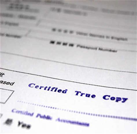 Certified Copies Of Documents