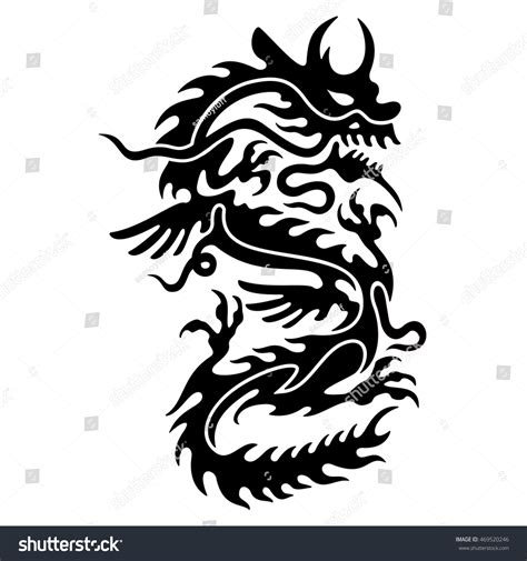 chinese dragon tattoo stock vector stylized vector format stock vector