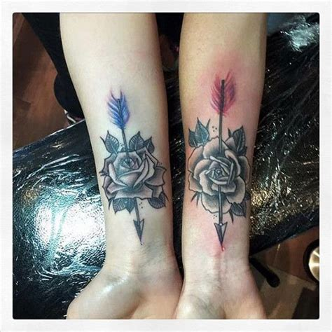image result for rose and arrow tattoo tattoos