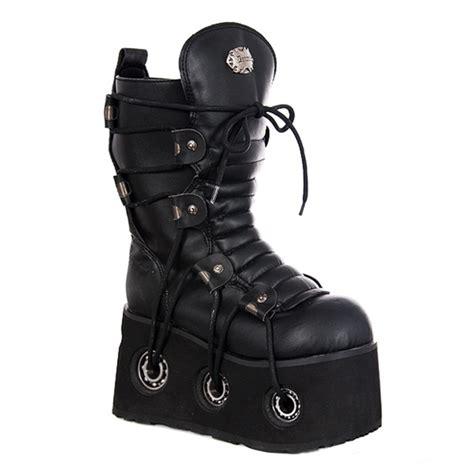 mens demonia boots demonia furious 201 mens platform calf boots