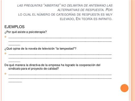 preguntas abiertas para entrevista elaboraci 243 n de cuestionarios entrevista y encuesta