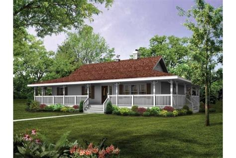 House Plans Single Story With Wrap Around Porch by Single Story House Plans With Wrap Around Porch Ideas