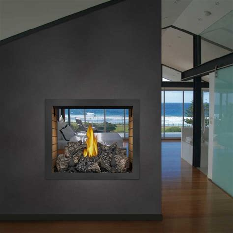 Vent Free See Through Gas Fireplace by Napoleon Hd81nt Top Vent See Thru Gas Fireplace
