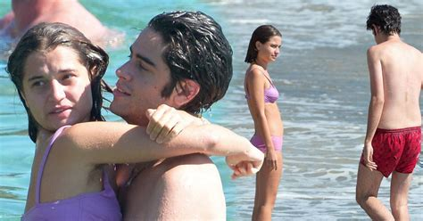 Peaches Geldof's widower Thomas Cohen pictured playing