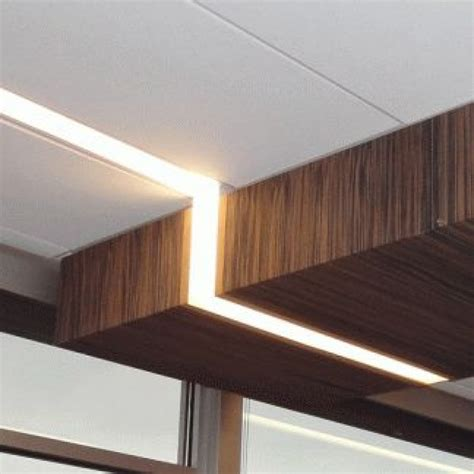 recessed linear lighting revit plaster in recessed slim led profile for led strip