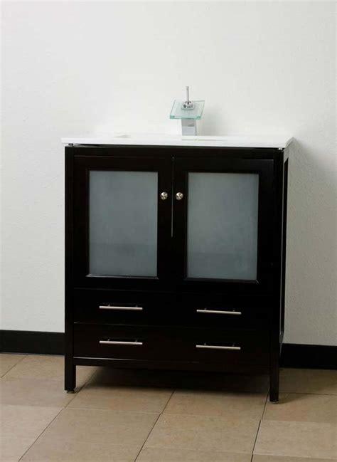 30 espresso bathroom vanity 30 quot bathroom vanity espresso solid wood undermount sink conceptbaths com