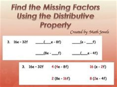 factoring using the distributive property worksheet answers 1000 images about distributive property factoring on distributive property