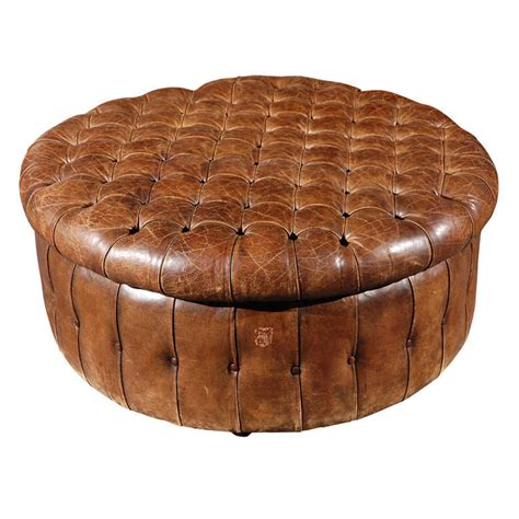 round leather ottoman for sale at 1stdibs english round leather ottoman circa 1880 at 1stdibs