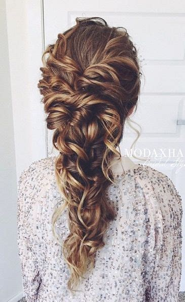 Wedding Hairstyles Curly Braid by Best 25 Hairstyles Ideas On Hair