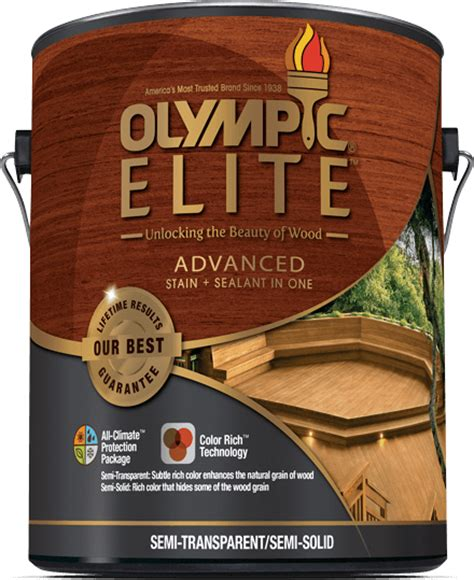olympic elite advanced stain sealant   semi solid