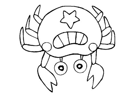 Crab Coloring Pages Coloringpages1001 Com Crab Coloring Pages