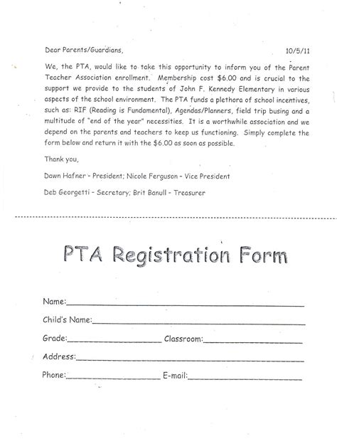 pta membership card word template html viewer