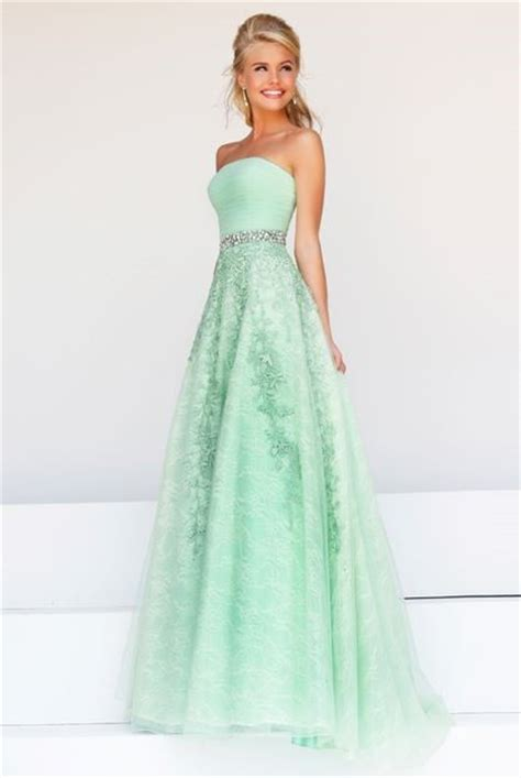 mint green beaded dress a line strapless mint green tulle lace beaded