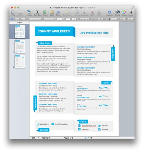 creative resume templates for mac free resume template mac inspiration decoration