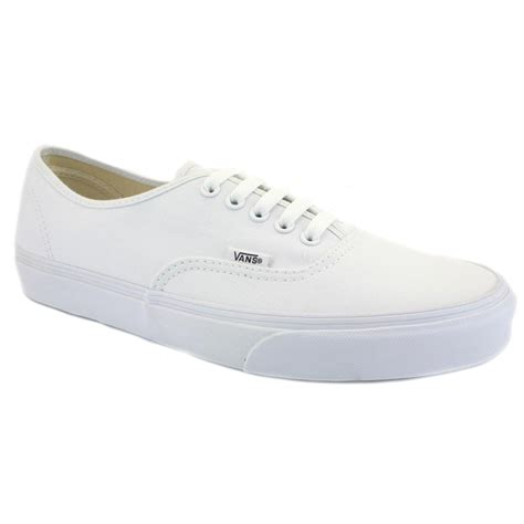 white shoes for vans authentic white white unisex trainers shoes