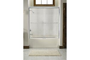 Sterling Shower Door Installation Sterling Plumbing Finesse Frameless Sliding Bath Door Featuring Install Mounting System