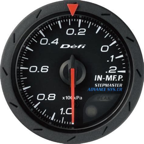 Indicator Defi Cr defi advance cr intake manifold pressure