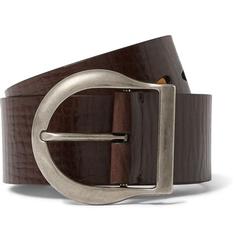 Tom Ford Belts by Tom Ford Belt Tom Ford 5cm Brown Leather Belt In Brown For