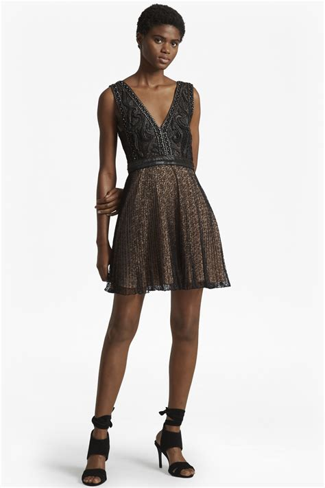 Be Bold With The Creta Dress From Connection by Florence Lace And Faux Leather Dress Black Dresses