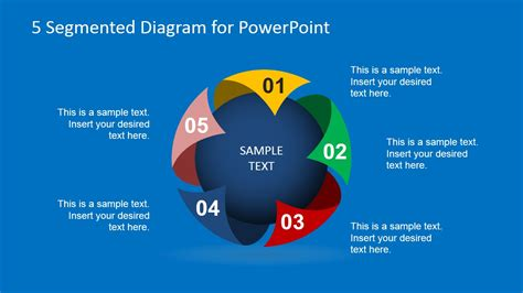 3 step spherical segmented diagram for powerpoint slidemodel creative spherical 5 steps diagram for powerpoint slidemodel