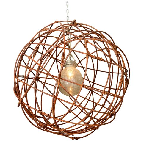 Usa Intertwined Wire Sphere Chandelier At 1stdibs Sphere Chandelier