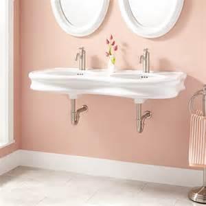 porcelain bathroom sinks 46 quot adler bowl porcelain wall mount bathroom sink