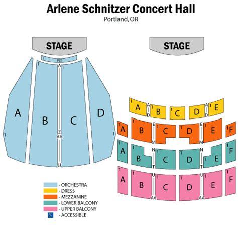 schnitzer concert seating chart chelsea handler june 24 tickets portland arlene