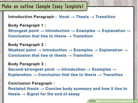 Write Analytical Essay by How To Write An Analytical Essay 15 Steps With Pictures