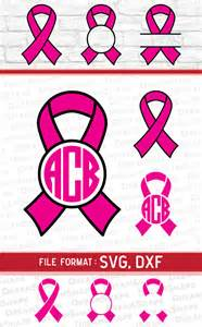 Painting Vinyl Upholstery Ribbon Svg Files Cancer Ribbon Svg Files Ribbon Monogram