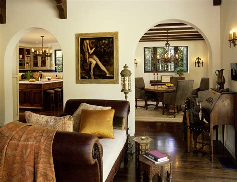 1930 Homes Interior Mediterranean Classic Rustic Living Room Los Angeles By Chambers Interiors Inc