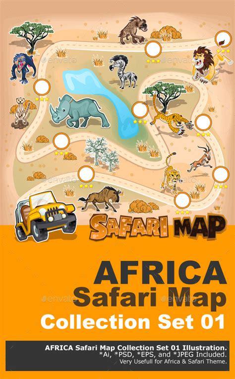 africa zoo map printable safari animal footprints 187 tinkytyler org