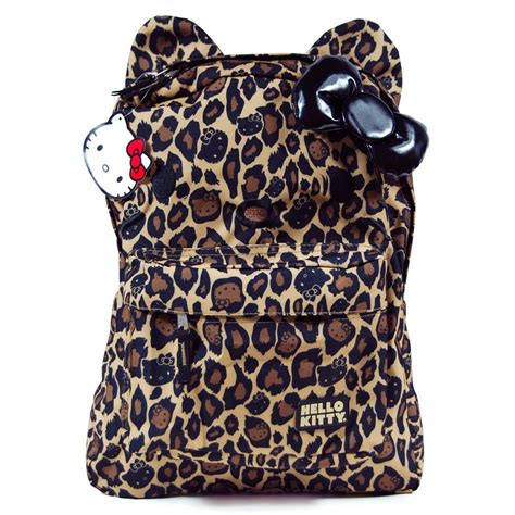 Leopard Print Backpack loungefly hello leopard print backpack
