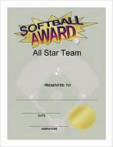 Free Softball Certificate Templates by Softball Award Certificate And Print 80
