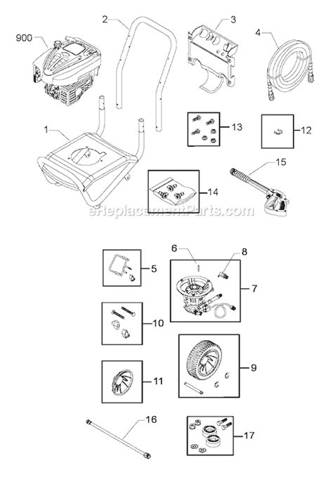 troy bilt pressure washer diagram troy bilt 020293 0 parts list and diagram