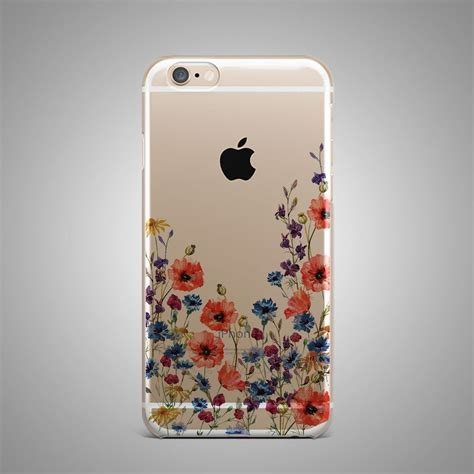 Handphone Casecover Handmade flowers floral custom design tpu silicone rubber clear cover for iphone ebay