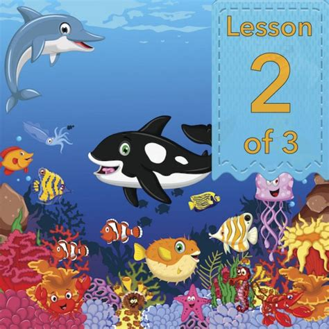 Sea Animal 2 animals labelling features planbee