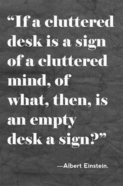 Einstein Quote Cluttered Desk by Cluttered Desk Canvas Print Quotes To Live By