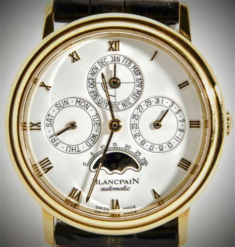 calendario perpetuo fases lunares reloj de oro para hombre blancpain complicaciones