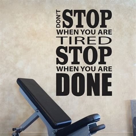 work out home gym decor wall decal wall border no pain no wall decal the best motivational wall decals for gym gym