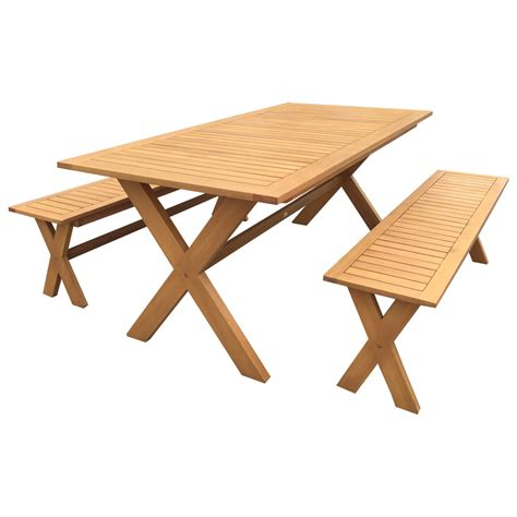 outdoor dining benches luxo sandgate hardwood timber outdoor bench dining set