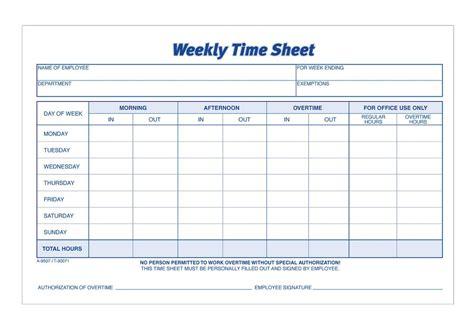 adams time sheet weekly  part carbonless  stpk