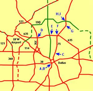 North Dallas Map by Texasfreeway Gt Dallas Fort Worth Gt Photo Gallery Gt North